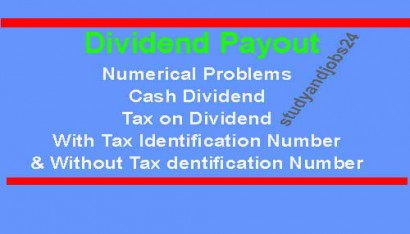 Tax Effects on Cash Dividend: Numerical Problem Examples