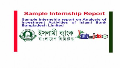 Sample Internship Report on Investment Activities of IBBL