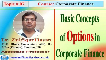 Options valuation in Corporate Finance