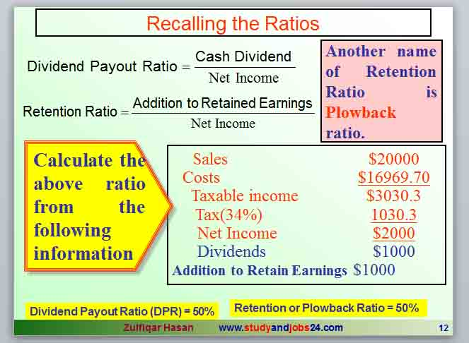 Plowback Ratio